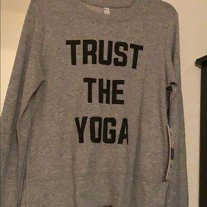 Alo yoga glimpse long sleeve top size small nwt
